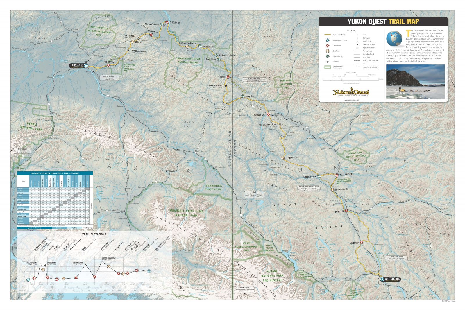Yukon Quest Trail Map Preview